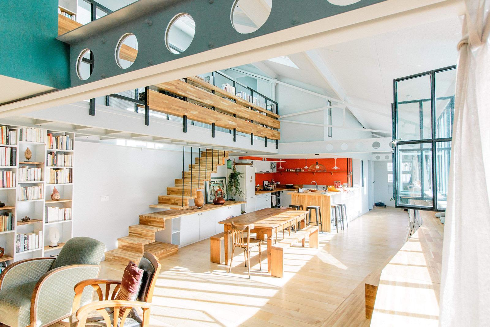 Rénovation loft design dans anciens ateliers