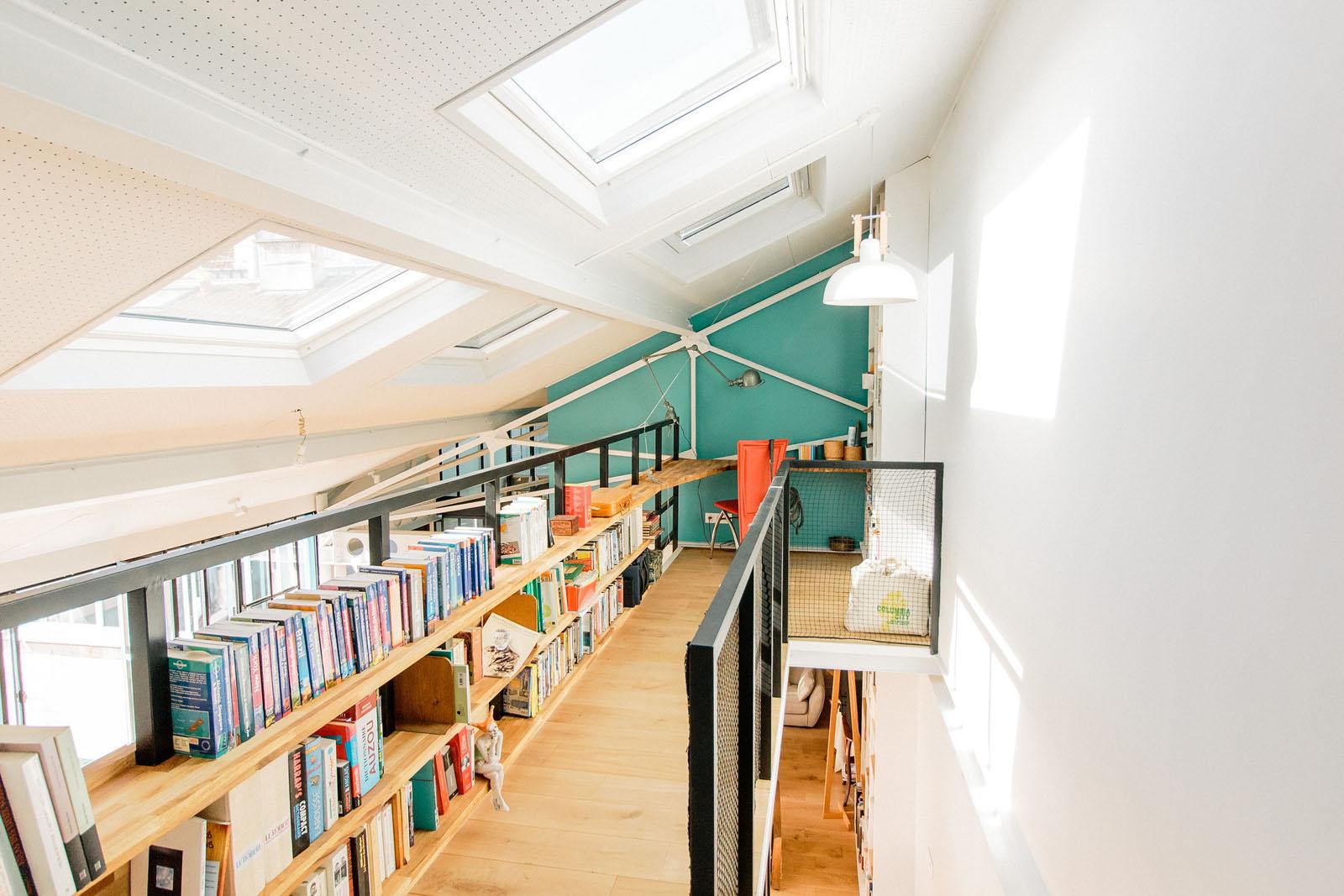 Aménagement d'un loft a paris, idée originale mezzanine